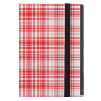 Plaid rouge étuis iPad mini