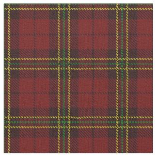 Plaid rouge-foncé de brique rayure jaune/vert et tissu