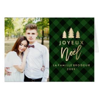 Plaid Vert Joyeux Noël | Carte De Noël