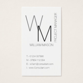 Plaine et carte de visite professionnel blanc