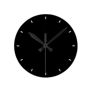 Plaine et horloge murale noire solide Tout-Noire