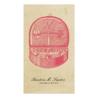 Plaine vintage de couture de rose de cool de style carte de visite standard
