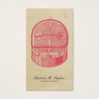 Plaine vintage de couture de rose de cool de style cartes de visite