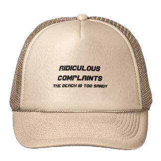 Plaintes ridicules casquette