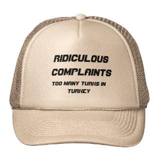 Plaintes ridicules casquettes de camionneur