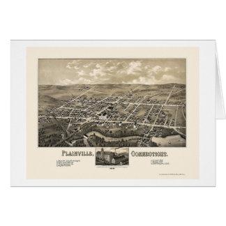 Plainville, carte panoramique de CT - 1878