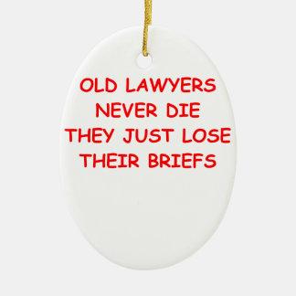 plaisanterie d'avocat ornement ovale en céramique