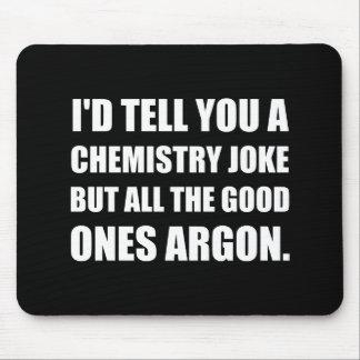 Plaisanterie de chimie la bonne l'argon tapis de souris