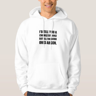 Plaisanterie de chimie la bonne l'argon veste à capuche