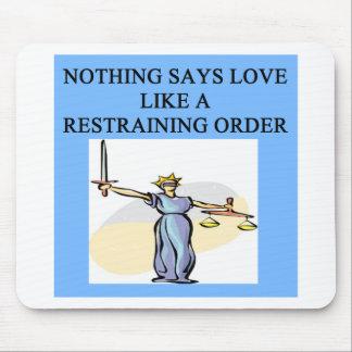plaisanterie de divorce d'amour tapis de souris