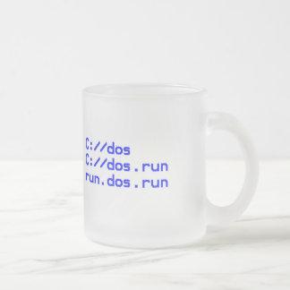 Plaisanterie de geek de DOS Mug En Verre Givré