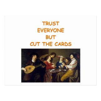 plaisanterie de joueurs de carte