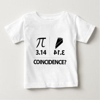 Plaisanterie de maths de coïncidence de pi t-shirt pour bébé
