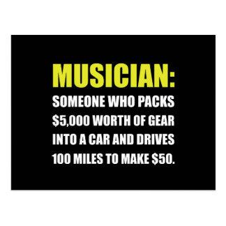 Plaisanterie de musicien carte postale