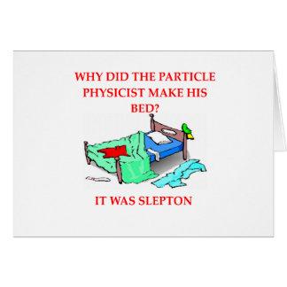 plaisanterie de physique carte de vœux