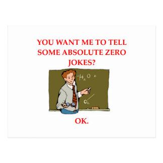 plaisanterie de physique carte postale