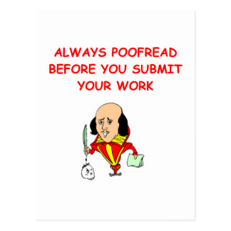 plaisanterie d'écriture carte postale