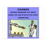 plaisanterie d'ingénierie d'ingénieur cartes postales