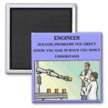 plaisanterie d'ingénierie d'ingénieur aimants pour réfrigérateur