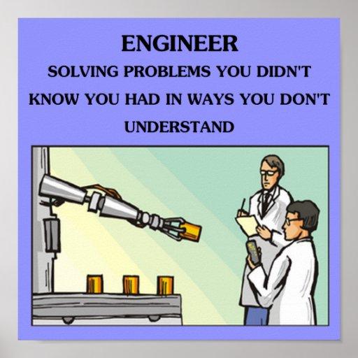 plaisanterie d'ingénierie d'ingénieur poster