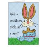 Plaisanterie drôle de lapin de Pâques Cartes De Vœux