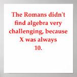plaisanterie drôle de maths affiches