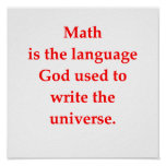 plaisanterie drôle de maths posters