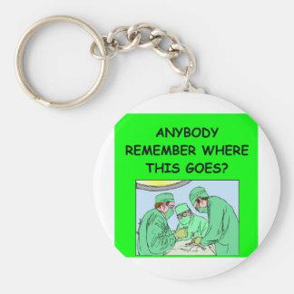 plaisanterie drôle de médecin porte-clef