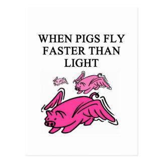plaisanterie drôle de physique carte postale
