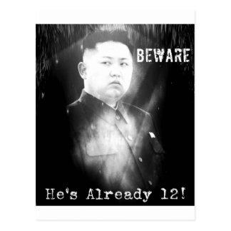 Plaisanterie du Jong-ONU de Kim Carte Postale