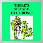 plaisanterie folle de scientifique affiches