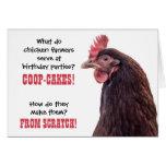 Plaisanteries de poulet d'anniversaire avec la pho carte de vœux