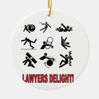 plaisir d'avocats ornement rond en céramique