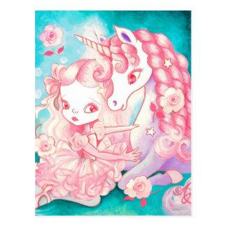 Plaisir de licorne carte postale