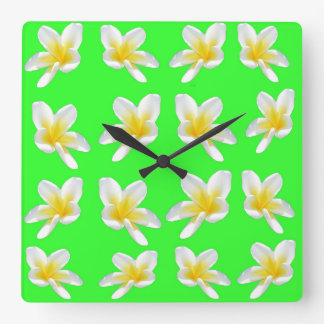Plaisir vert de Frangipani, grande horloge de mur