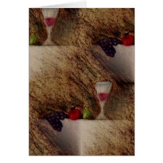 Plaisirs porte des fruits les produits multiples carte de vœux