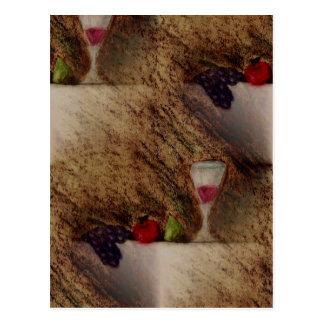 Plaisirs porte des fruits les produits multiples carte postale