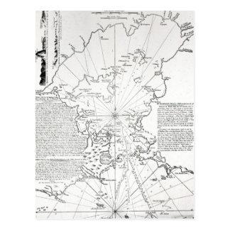 Plan de la baie et du port du Rio de Janeiro Carte Postale