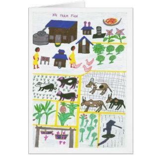 Plan de la ferme de Margaret Carte De Vœux