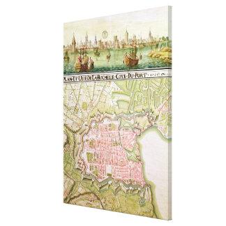 Plan de la ville de La Rochelle, 1736 Toiles