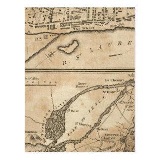 Plan de Montréal, avec une carte des îles