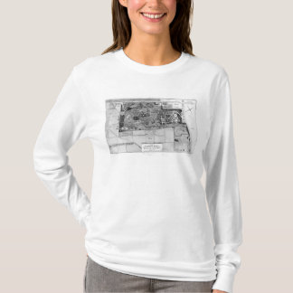 Plan de Parc Monceau à Paris T-shirt