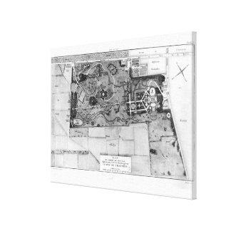 Plan de Parc Monceau à Paris Toiles
