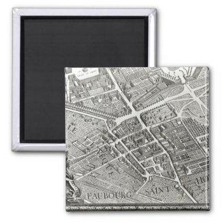 Plan de Paris, connu sous le nom de 'Plan de Turgo Magnet Carré