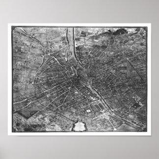 Plan de Paris, connu sous le nom de 'Plan de Turgo Posters