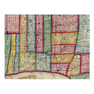 Plan de Philadelphie Carte Postale