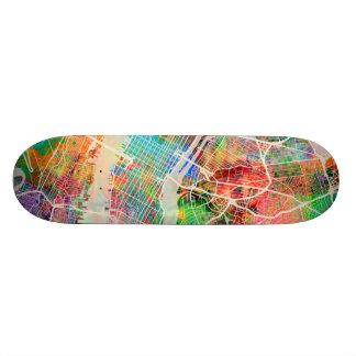 Plan de ville de New York City Plateaux De Skateboards Customisés