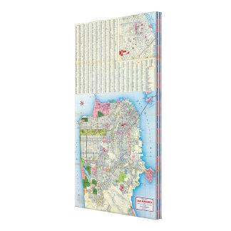 Plan de ville de San Francisco Toiles