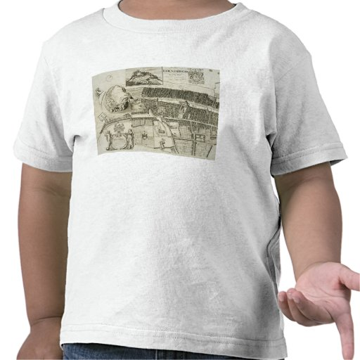 Plan d'Edimbourg, pub. par John Smith (c.1652-1742 T-shirts