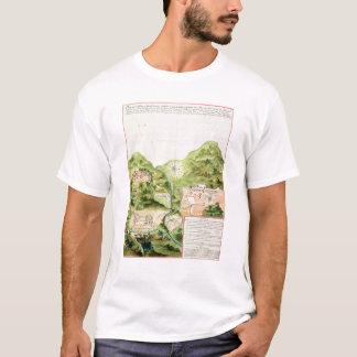 Plan des mines d'Oaxaca, Mexique, 1785-87 T-shirt